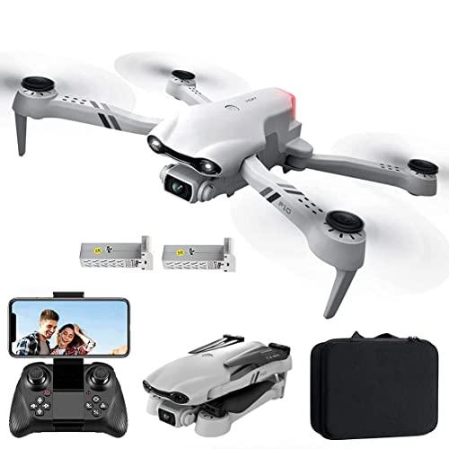 JJDSN Drone con cámara Cámara HD de 6K para Principiantes, GPS con Retorno automático, Motor sin escobillas de 5 GHz FPV RC Quadcopter Sígueme, Waypoint-Fly, Modo sin Cabeza, 2 baterías para 50 mi