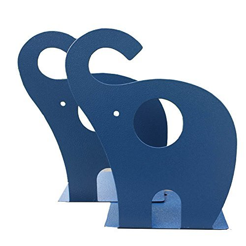 y-h 1Paar Cute Cartoon Elefant rutschfeste Buchstützen Art Buchstütze (Marineblau)