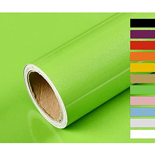 Hode Carta Adesiva per Mobili Carta da Parati Vinilica per Adesivi Decalcomanie Pareti Porte Finestre Frigo Posteriori Rotolo di Plastica Verde Scuro 40X300cm