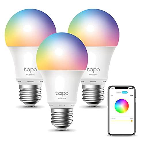 TP-Link Tapo Ampoule Connectée Wifi, Ampoule LED 8.7W 806Lm, RGBCW Multicouleur et...