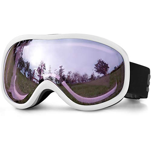 SPOSUNE Ski Goggles Over Glasses , Snow Snowmobile Goggle with Anti fog UV400 Dual lens for Men Women Youth Kids Skiing