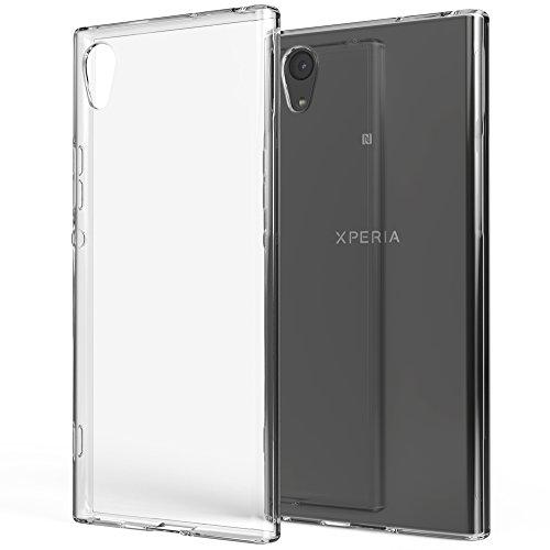 NALIA Funda Carcasa Compatible con Sony Xperia XA1, Protectora Movil Silicona Ultra-Fina Gel Cubierta Estuche, Goma Telefono Bumper Phone Cover Cobertura Delgado Case Cristal Clear - Transpare