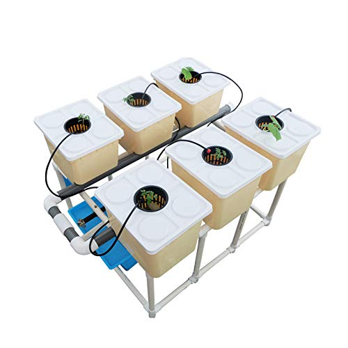 INTBUYING 6 Sites Hydroponic Site Grow Kit Box-Type Plant Garden Growing System