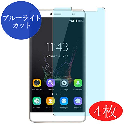 【4 Pack】 Synvy Anti Blue Light Screen Protector for BLUBOO Maya Max Blue Light Blocking Screen Film Protective Protectors [Not Tempered Glass] New Version