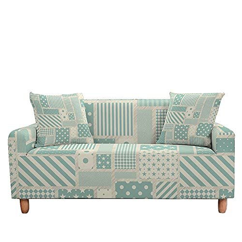 WXQY Funda de sofá elástica geométrica con Todo Incluido Funda de sofá en Forma de L Funda de sillón Funda de sofá Antideslizante Envuelta herméticamente A2 3 plazas
