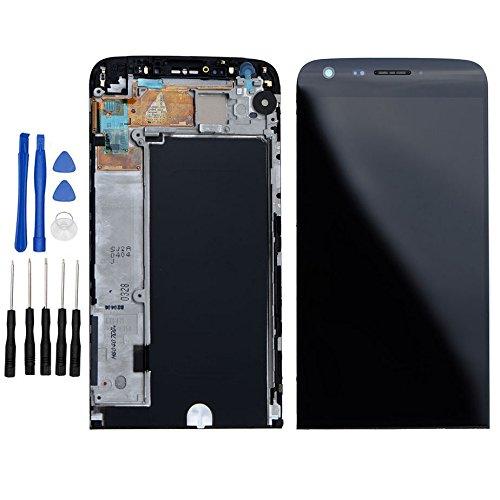 ixuan for LG G5 H850 H820 H830 H831 LS992 LCD Display Touch Screen Digitizer Complete Assembly with Bezel Frame Replacement Repair Part (Black)