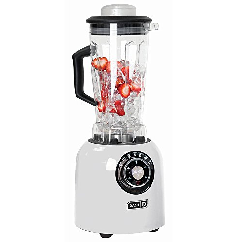 DASH DPB500WH, Sm with Stainless Steel Blades + Digital Display for Coffee Drinks, Frozen Cocktails, Smoothies, Soup, Fondue & More, Plastic, White
