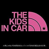 THE KIDS IN CAR 星柄(キッズインカ―)ステッカー パロディ シール 子供を乗せています(12色から選べます) (ピンク)