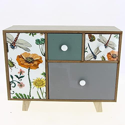 Fomax - Caja de almacenamiento con 4 cajones (tamaño: 30 x 11,5 cm, altura 23 cm)