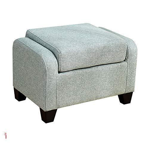 DULPLAY Madera Portátil Taburete del sofá, Plegable Taburete Puff Cuadrado Banco cómodo Esponja Tapizado Mesa Banco Taburete de café para el Dormitorio-A 60x40x40cm(24x16x16inch)