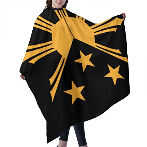 YEGFTSN Professional Barber Cape - Philippines Filipino Sun and Stars Flag Hair Cutting Salon Cape Cloth Hairdressing Apron Gown for Barber and Home-55' X 66' Inches