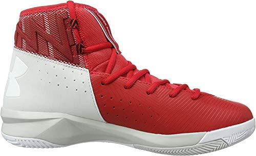 Under Armour UA Rocket 2, Zapatillas de Baloncesto Hombre, Rojo (Red 600), 40 EU
