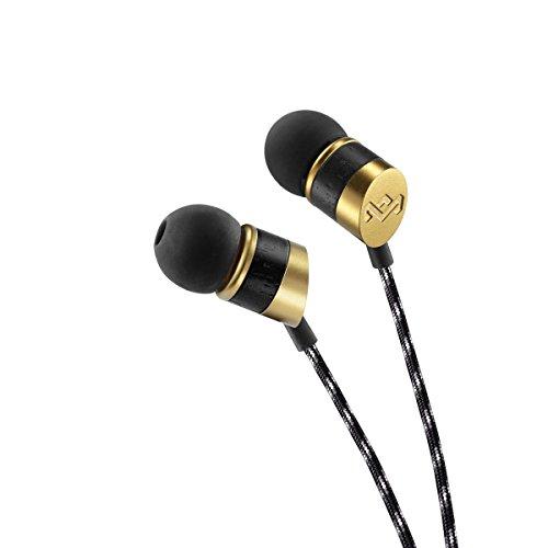 House of Marley Uplift In-Ear Kopfhörer, Geräuschisolierung, Freisprecheinrichtung durch Mikrofon, 8mm Dynamic Treiber, 1-Knopf Steuerung, Ohrstöpsel in 3 verschiedenen Größen, Grand