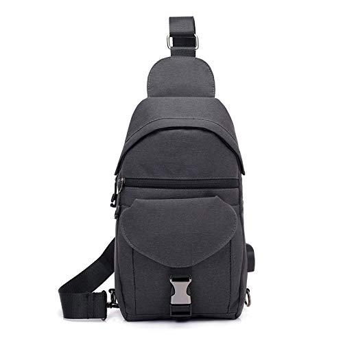 XUEQQ Brusttasche Brust Tasche männlichen Crossbody Tasche einzigen Schultertasche Canvas Tasche Anti-Diebstahl-Rucksack Outdoor Sport wasserdicht Handtasche FEMA Le-Bag