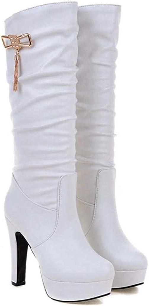 Women's 5 ☆ very popular Sexy Platform Max 54% OFF High Heel Boots Waterproo Knee Ladies