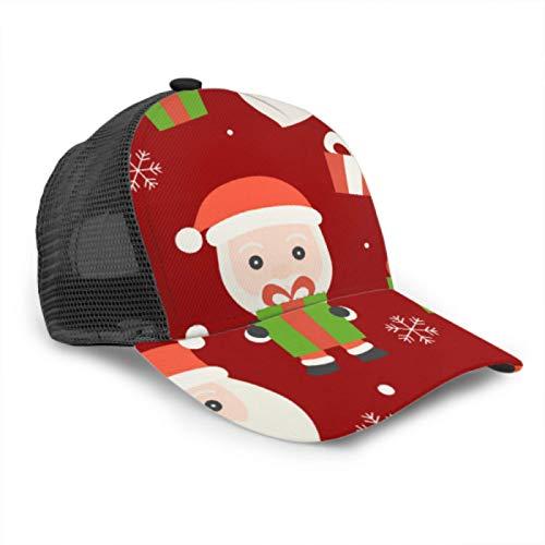 N \ A Gorra de béisbol para hombre y mujer, con caja de regalo de Navidad, ajustable, de malla de camionero, para verano, con ventilación