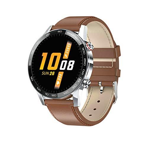 JXFF L16 Smart Watch Men's Bluetooth Smartwatch Hombre IP68 Impermeable Múltiples Modos De Deportes Control De Música Presión Arterial Pulsera Cardíaca Fitness Pulsera para Android iOS,B