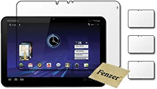 3 Pack Fenzer Clear Screen Protectors for Motorola Xoom 10.1 inch Tablet Transparent LCD Touch Screen Film Guard Cover Shields with Cleaning Cloth