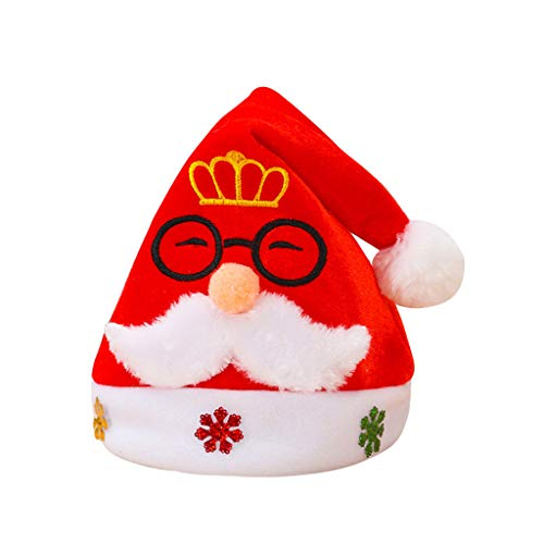 Cappello di Santa Cappelli di Natale, Cappelli di Natale di Babbo Natale Regalo Unisex Caldo Caldo per la Festa di Babbo Natale Famiglia Cappelli di Natale cappelli babbo natale bambini