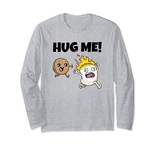 Hug me Marshmallow Keks Lagerfeuer Camper Zelten Langarmshirt