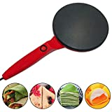 Metyere Electric Crepe Maker Nonstick Maker Baking Pizza Machine Portable Pancakes Pan Non-Stick for Home Kitchen