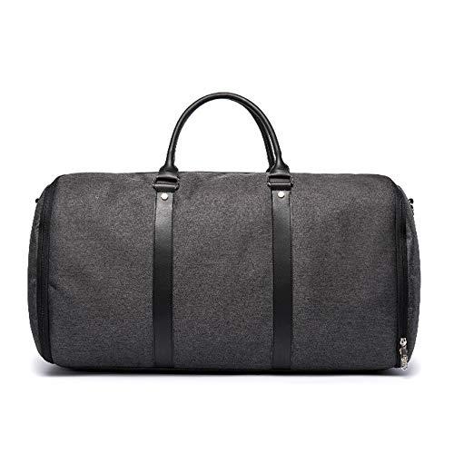 Convertible Garment Bag Hanging Travel Suit Bag with Shoulder Strap and Shoe Bag for Men Women,Black