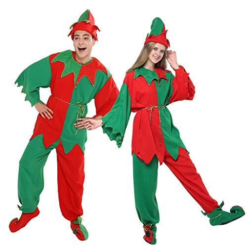 EraSpooky Adulti Elfo Costumi Uomo o da Donna Natale Grotto Party Costume