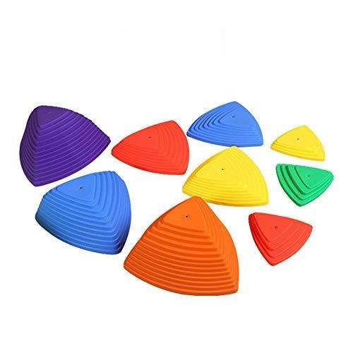 Easy-topbuy 9 Stück Trittsteine Kinder Balance Block, Buntes Sprungbrett Für Kinder Kinder Indoor Outdoor Spielen, Balance Koordination Stabilitätsübung