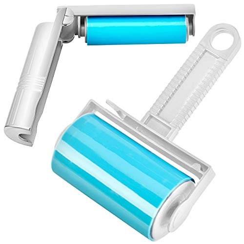 infactory Fusselroller: Wiederverwendbare Fussel- und Tierhaarrolle in 2 Größen, 2er-Set (Fusselrolle für Wäsche)
