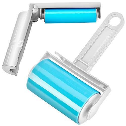 infactory Fusselrolle für Wäsche: Wiederverwendbare Fussel- und Tierhaarrolle in 2 Größen, 2er-Set (Abwaschbare Fusselrolle)