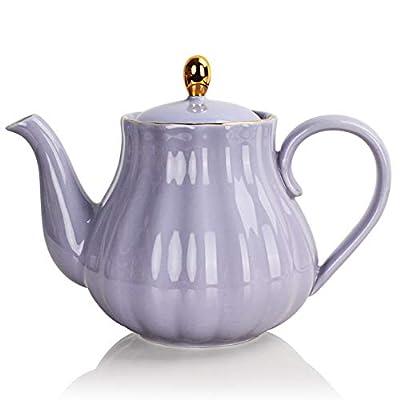 SWEEJAR Ceramic Teapot, Tea Pot with Infuser