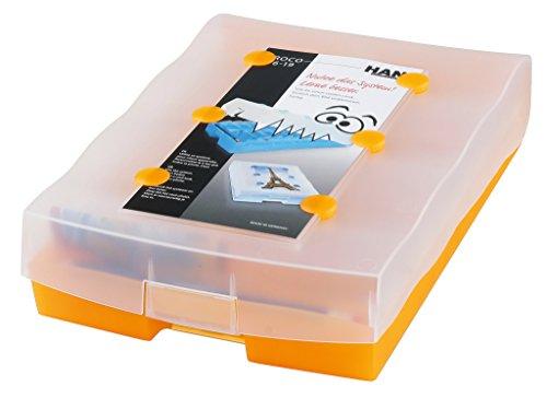 HAN Lernkartei CROCO 2-6-19 – Lernsystem für Vokabeln. Dank Kästchen schieben ins Langzeitgedächtnis, einfach genial Vokabellernen, transluzent-orange, 9988-613