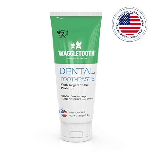 Natural Dog Toothpaste Enzymatic with Probiotics - Toothpaste for Dogs Reduces Tartar and Plaque - Manufactured in USA - with Natural Ingredients for...