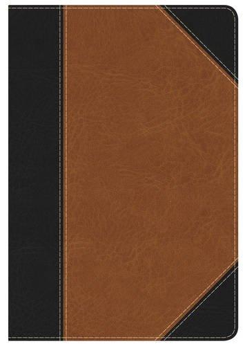 KJV Study Bible Personal Size, Black/Tan LeatherTouch