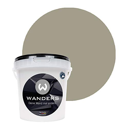 Wanders24® Tafelfarbe (1Liter, Pariser Taupe) Blackboard Paint - Tafellack - abwischbare Wandfarbe - in 20 Farbtönen erhältlich - Made in Germany