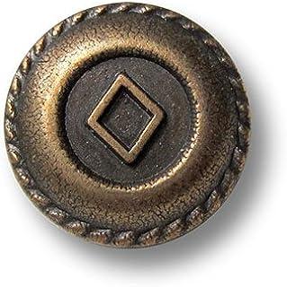Knopfparadies 15mm Metall Kn/öpfe /Ø ca Gl/änzend goldfarben 8er Set dekorative leicht gew/ölbte goldfarbene /Ösen Metallkn/öpfe mit muschelf/örmigen Streifen