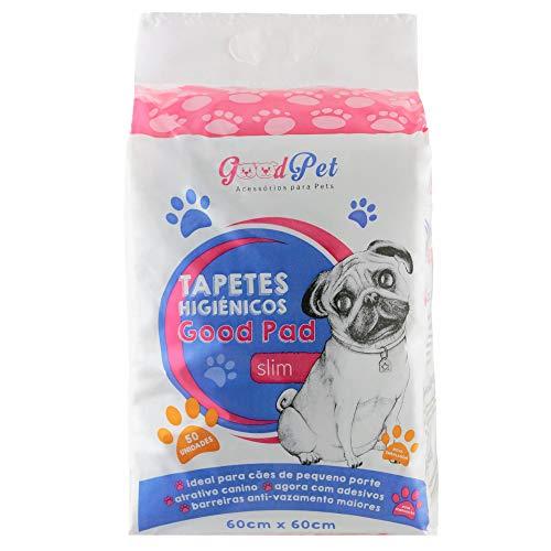 Tapete Higiênico Good Pad para Cães, Good Pet, 60cmx60cm, Pacote de 50