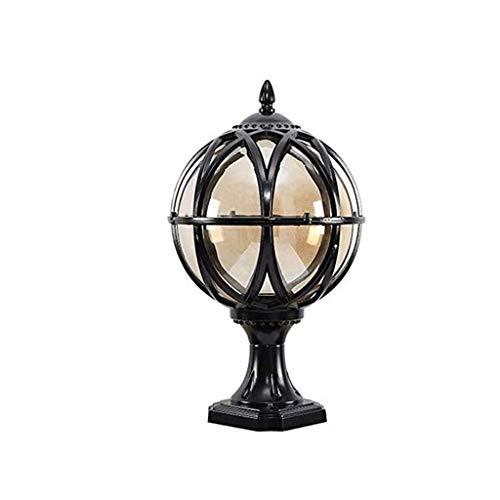YWSZJ Pilar de la lámpara, la Puerta de jardín de Cristal Linterna Columna Antioxidantes Lámpara de césped al Aire Libre Impermeable Pilar Poste lámpara de Mesa