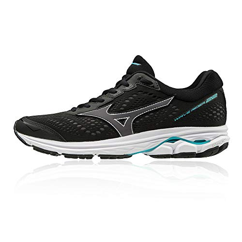 Mizuno Wave Rider 22 Women's Running Shoes (D Width) - 4 Black
