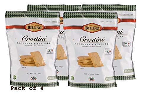 Bellino Rosemary and 2021 new Store Sea Salt Pack Crostini of 4