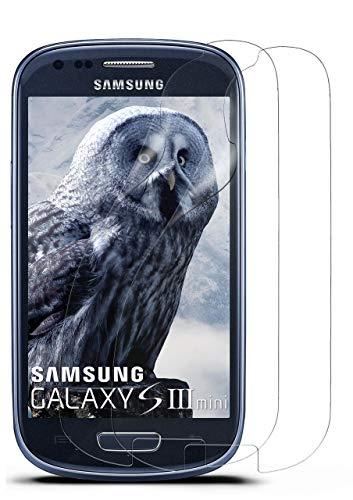 MoEx® Kristallklare HD Schutzfolie passend für Samsung Galaxy S3 Mini   Premium Bildschirmfolie - Kratzfest & Fast unsichtbar - Ultra Klar