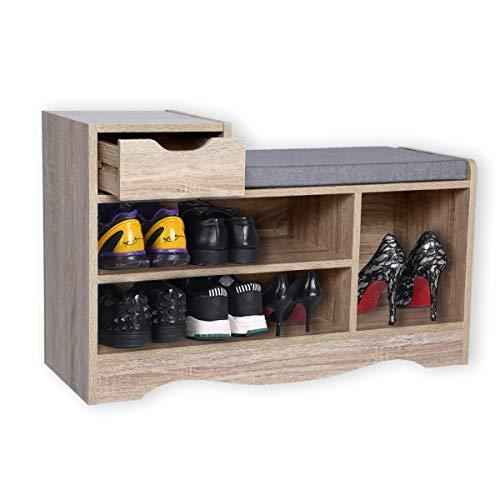 Happy Home Gabinete Moderno para Bancos de Zapatos, Estantes para Guardar Zapatos con Cajones y cojines para el hogar, el pasillo y la Entrada