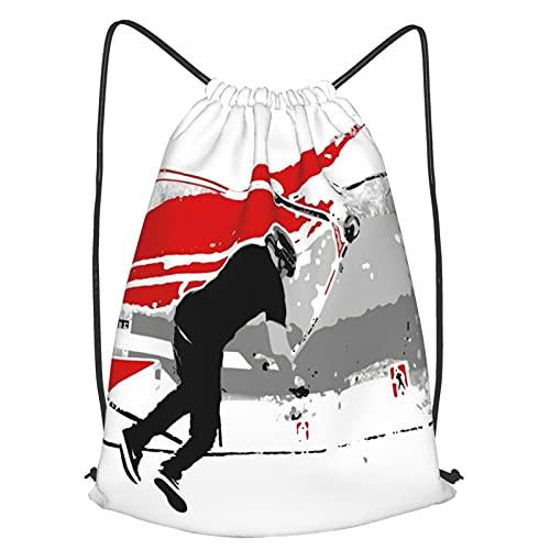 ZHIMI Kordelzug Rucksack Tasche Sackpack,Tail Whip Scooter Stunt,Wasserdichter Turnbeutel Schulrucksack Sporttasche Tagesrucksack für Arbeit Wandern Reisen Camping