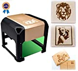 3000mW laser class 4 engraving machine Laser Engraver Printer Mini desktop laser engraver machine DIY Logo laser engraver 7.5X7.5CM (3000mW) (3000mW)