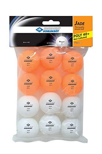 Donic-Schildkröt Tischtennisball Jade, Poly 40+ Qualität, 12 Stk. im Polybag, 6x weiß / 6x orange, 618045