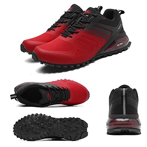 SAMEVE Traillaufschuhe Herren Weite Laufschuhe für Herren Crossfit Schuhe Herren ASK571, schwarz/purple, 46 EU thumbnail
