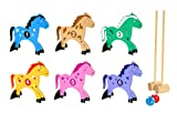 Pony Croquet Kids Indoor/Outdoor 10 Piece All Wood Set