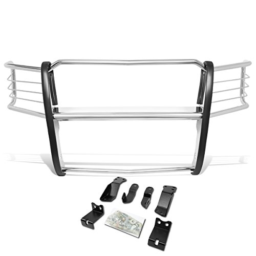 DNA Motoring GRILL-G-073-SS Front Bumper Headlight/Grille Brush Guard [For 14-18 Chevy Silverado 1500]