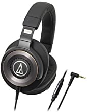 Audio Technica Solid Bass Over-Ear Headphones with In-Line Mic and Controls