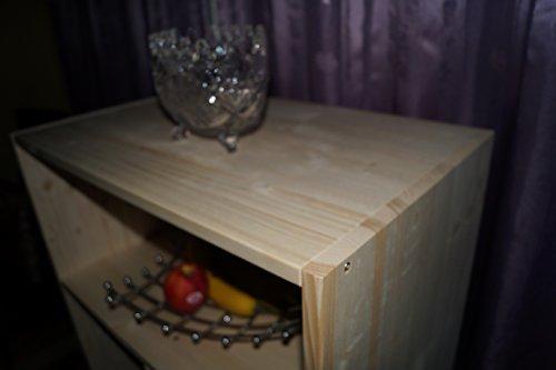 2in1 Regal Sideboard Bücherregal Schrank Wohnwand aus Massiv Fichte 120x64x40cm geschliffen Made in Germany - 5